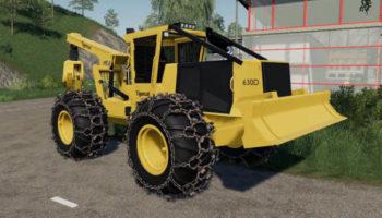 Мод трактор Tigercat 630D Skidder v1.0 для Farming Simulator 2015