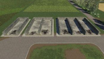 Мод ПАК Bunker Silo Set v1.0.0.0 для Farming Simulator 2015