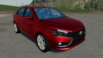 Мод авто Lada Vesta v2.0.0.0 для Farming Simulator 2015