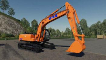 Мод экскаватор Hitachi ZX290LC v1.0.0.0 для Farming Simulator 2015