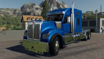 Мод грузовик Kenworth W990 v1.0.0.0 для Farming Simulator 2015