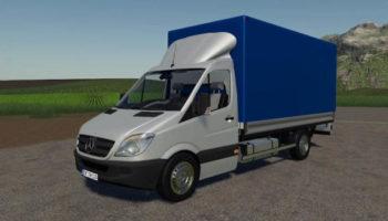 Мод грузовик Mercedes Sprinter Pickup v1.0 FS2019 для Farming Simulator 2015