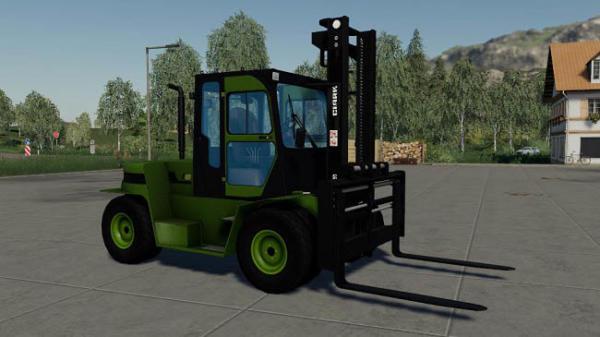 Мод погрузчик Clark C80D forklift v2.0 для Farming Simulator 2015