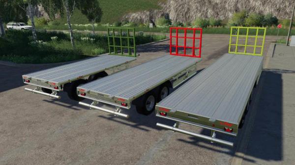 Мод прицеп Fliegl TPW Bale Trailer Set v1.1.0.0 для Farming Simulator 2015