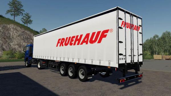 Мод прицеп Fruehauf tarp trailer v4.1.0 для Farming Simulator 2015
