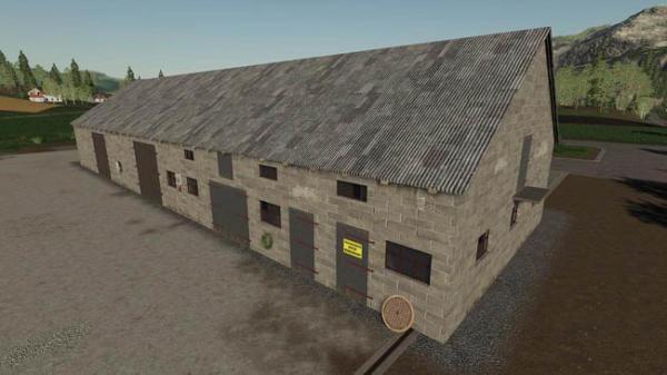 Мод сарай Polish Brick Barn v1.0.0.0 для Farming Simulator 2015