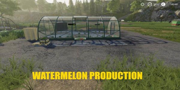 Мод теплицы Melon and Watermelon Production v1.0 для Farming Simulator 2015